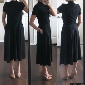 Positive Attitude vintage black turtleneck dress